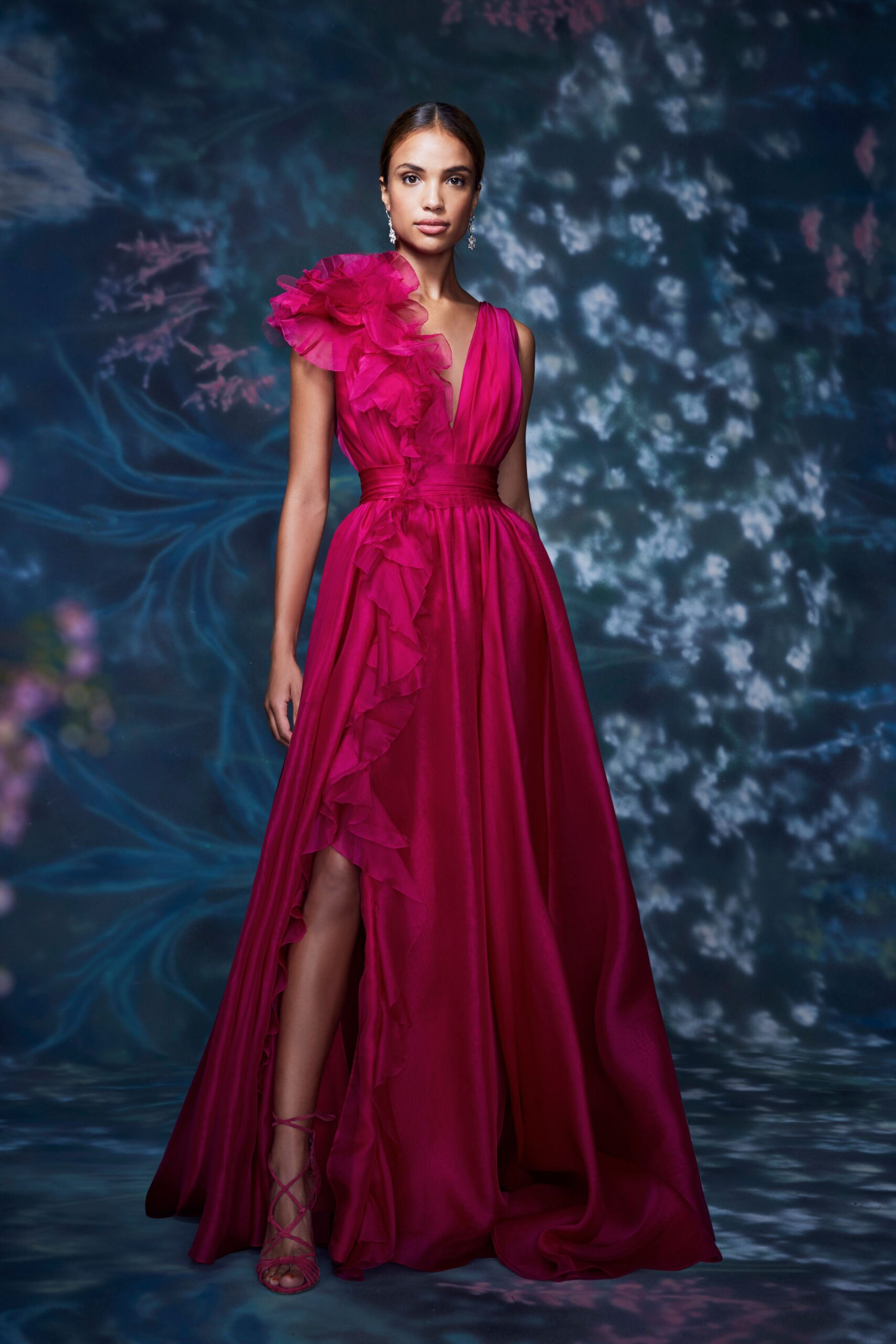 Rosa Lampone - Marchesa Ready-to-Wear Spring 2021