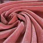Pink Silk and Viscose Velvet Fabric - 001