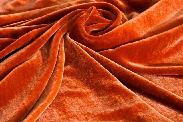 Tissu Velluto Se/Viscosa 010 Orange
