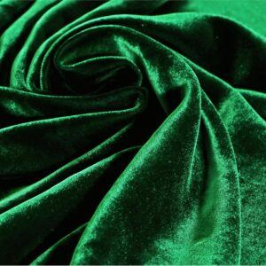 Green Silk, Viscose Velvet fabric for Dress, Pants, Shirt, Skirt.