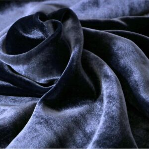 Blue Silk, Viscose Velvet fabric for Dress, Pants, Shirt, Skirt.