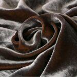 Velours de soie et viscose Gris pour habillement