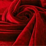 Tessuto Velluto Se/Viscosa 025 Rosso per Abbigliamento