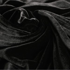 Black Silk, Viscose Velvet fabric for Dress, Pants, Shirt, Skirt.