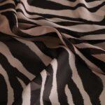 Tessuto zebrato in pura seta | new tess