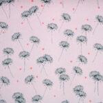 Pink Silk Georgette Flowers Print fabric for Dress, Shirt.