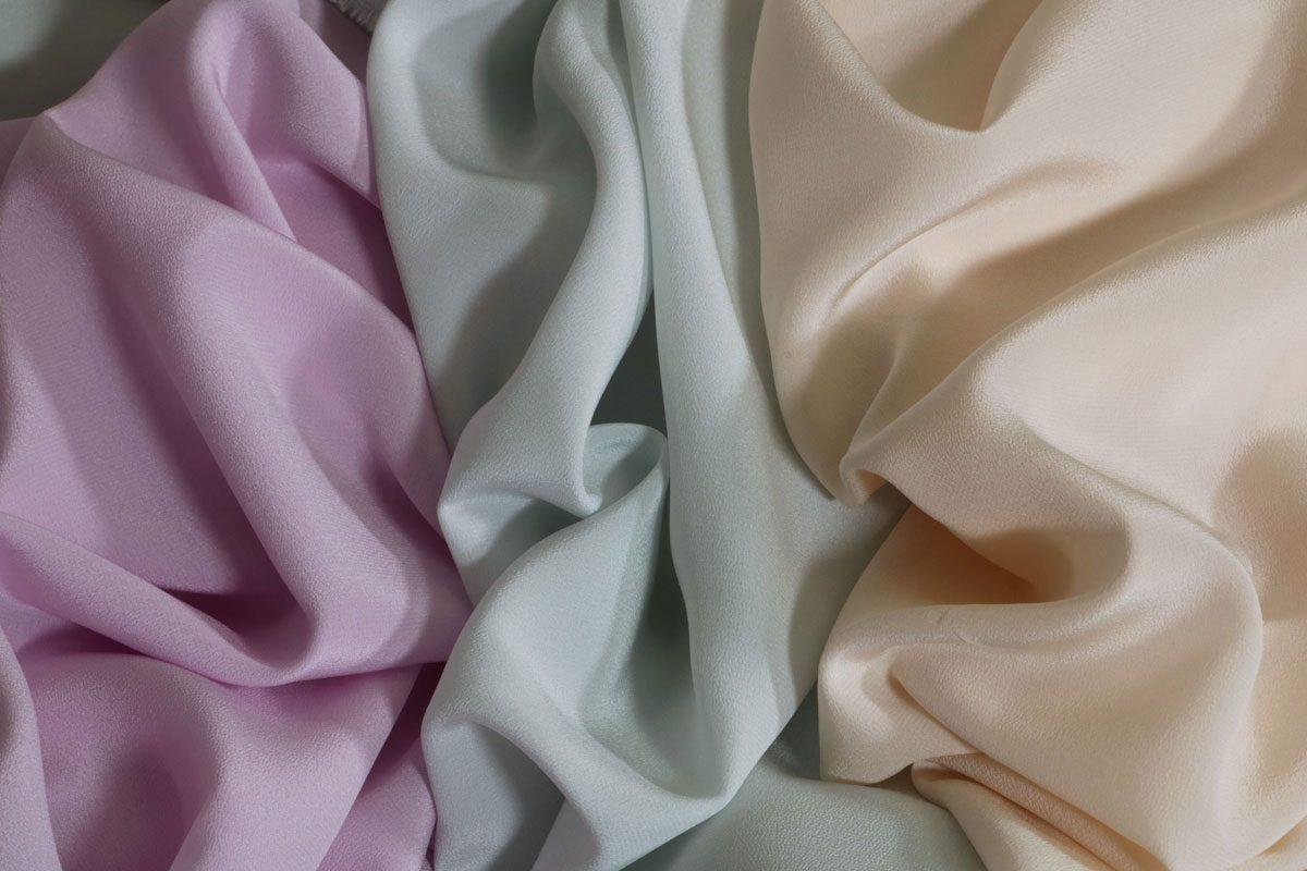 Pastel colour silk fabrics | Tessuti in seta tonalità pastello