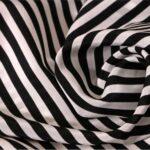 Black, White Silk Polka Dot Fabric - Crepe Se Riga Omnibus 101801