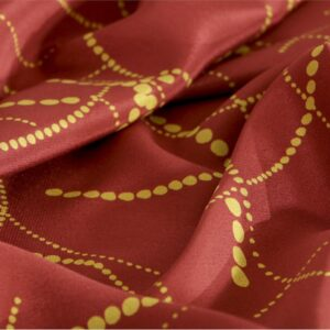 Orange Silk Abstract Print fabric for Dress, Pants, Shirt, Skirt.