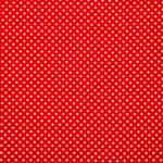 Red, White Silk Polka Dot Fabric - Crepe Se Omnibus Pois 201303
