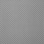Gray, White Silk Polka Dot Fabric - Crepe Se Omnibus Micro Pois 201906
