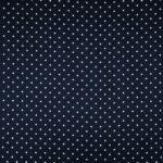 Blue, White Silk Satin Polka Dot Fabric - Raso Se Omnibus Pois 201102