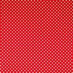 Tissu Raso Se Omnibus Pois 201303 Blanc, Rouge en Soie