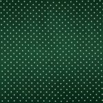 Tessuto Raso Se Omnibus Pois 201604 Bianco, Verde in Seta