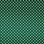 Green, White Silk Satin Polka Dot Fabric - Raso Se Ominibus Pois 201604