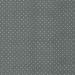 Gray, White Silk Satin Polka Dot Fabric - Raso Se Omnibus Pois 201906