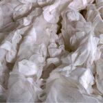 Tissu Ricamo Su Tulle 001 Blanc en Polyester