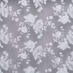 White floral embroidered tulle | new tess bridal fabrics