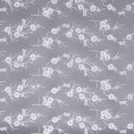 Tulle blanc brodé avec un motif de ramage | new tess