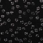 Tessuto Pois Intreccio Decoupè 003-01 Nero per Abbigliamento
