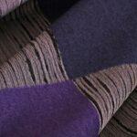 Gray, Purple Wool-blend coating Fabric