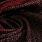 Tissu Pannello Sfumato Lana Cravat P02-04 Noir, Rouge en Laine, Soie