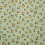 Green Silk Blend Bouquet Cloqué Floral Fabric