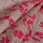 Beige, Pink Jacquard Coupe' 000700 Fabric