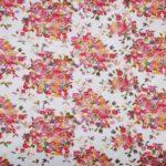 Tessuto Ricamato 000800 Bianco, Multicolore in Poliestere