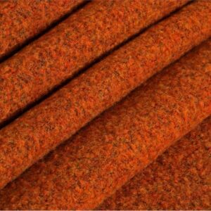 Orange Polyester, Wool Weaves Coat fabric for Coat, Jacket.
