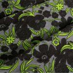 Tessuto Cloque' 000800 Grigio, Verde per Abbigliamento