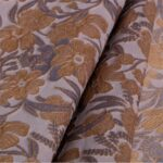 Brown, Gray Cloque' 000804 Woven Fabric