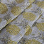 Beige, Yellow Broccato 000801 Woven Fabric