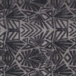 Black Polyester Sequins Geometric Laces-Embroidery fabric for Party dress.