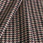 Beige, Red Tartan Wool-blend Coating Fabric - Pied Poule 000801
