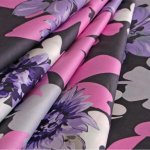 Gray, Multicolor, Pink, Purple Cotton Print fabric for Dress, Shirt.