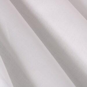 Tissu Uni Mousseline Blanc en Coton pour Chemise.