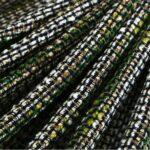 Beige, Blue, Green, Multicolor Intreccio 001 Fabric