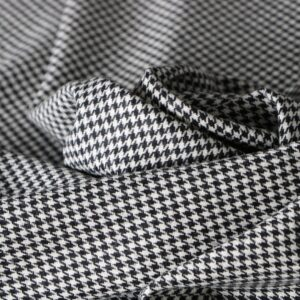 Black, White Wool Fine Suit fabric for Dress, Jacket, Pants, Skirt.
