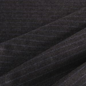 Gray Wool Flannel Plain fabric for Dress, Jacket, Pants, Skirt.