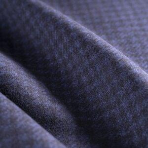 Tessuto Cappotto Scozzese Blu, Nero in Lana per Cappotto.
