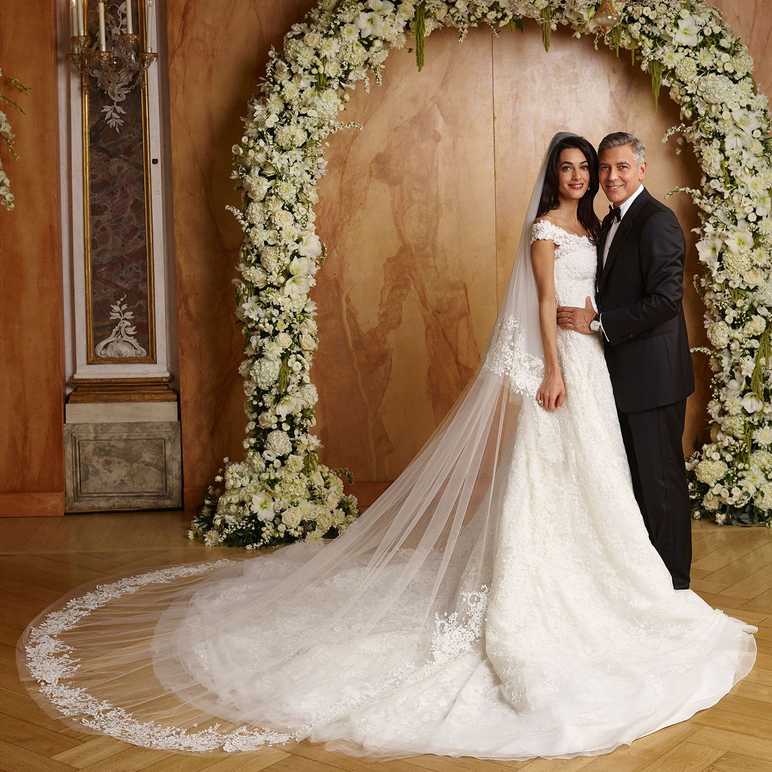 bridal gown of Amal Clooney