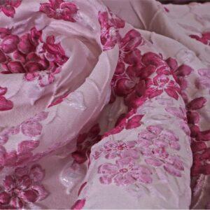 Tissu Jacquard Fuchsia, Rose en Polyester, Soie pour Robe, Robe de cérémonie, Veste, Veste-Manteau légère.