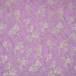 Pink, Purple Flowers Woven Fabric - Jacquard Coupe' 001