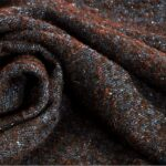 Blue, Brown Tweed 000801 Wool-blend Fabric