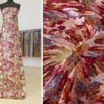 Prezioso tessuto tulle con paillettes a disegno floreale | new tess