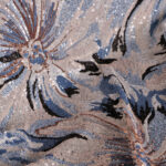 Floral sequined tulle fabric | new tess