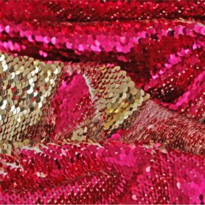 Fuxia Stretch, Viscose Abstract Laces-Embroidery fabric for Dress, Party dress.