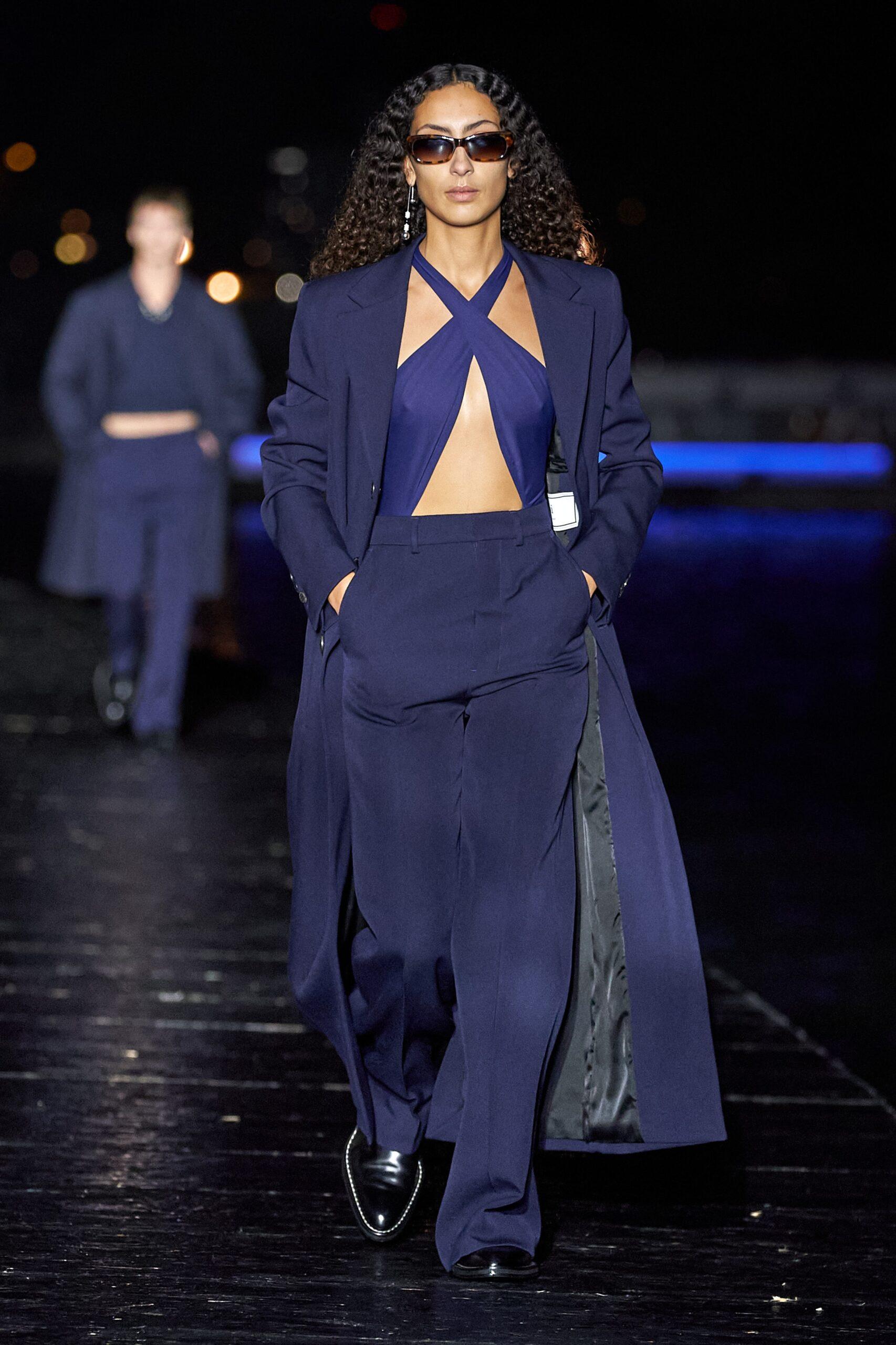 Blu scuro - Ami Ready-to-Wear Spring 2021