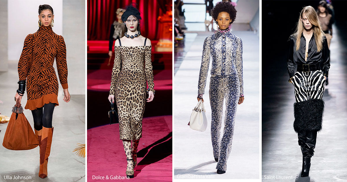 Animal print fashion trend Fall 2019